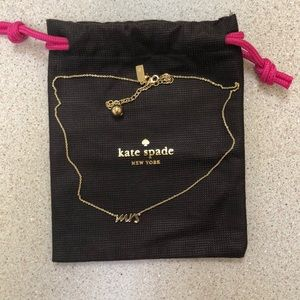 "Kate Spade ""Mrs"" necklace in gold"